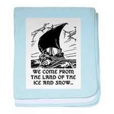 THE LAND OF ICE AND SNOW baby blanket