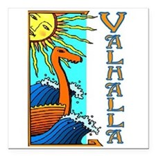 "VALHALLA (Tall Ships) Square Car Magnet 3"" x 3"""