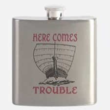 HERE COMES TROUBLE (VIKING) Flask
