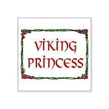 "VIKING PRINCESS Square Sticker 3"" x 3"""