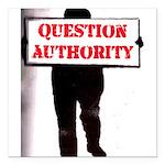 QUESTION AUTHORITY Square Car Magnet 3