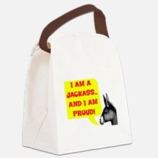 JACKASS AND PROUD Canvas Lunch Bag