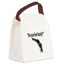 DO YOU FEEL LUCKY (GUN) Canvas Lunch Bag