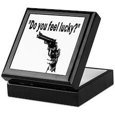DO YOU FEEL LUCKY (GUN) Keepsake Box