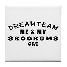 Skookums Cat Designs Tile Coaster