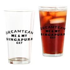 Singapura Cat Designs Drinking Glass