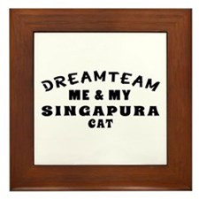 Singapura Cat Designs Framed Tile