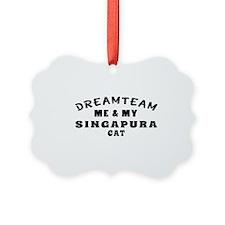 Singapura Cat Designs Ornament