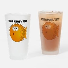 Custom Orange Blowfish Drinking Glass