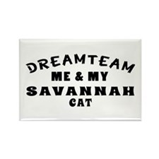 Savannah Cat Designs Rectangle Magnet