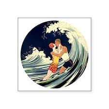 Love in the Surf Sticker