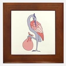 Stork Framed Tile