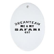 Safari Cat Designs Ornament (Oval)