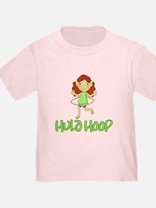 Hula Hoop Girl (Green) T-Shirt