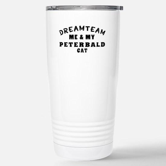 Peterbald Cat Designs Stainless Steel Travel Mug