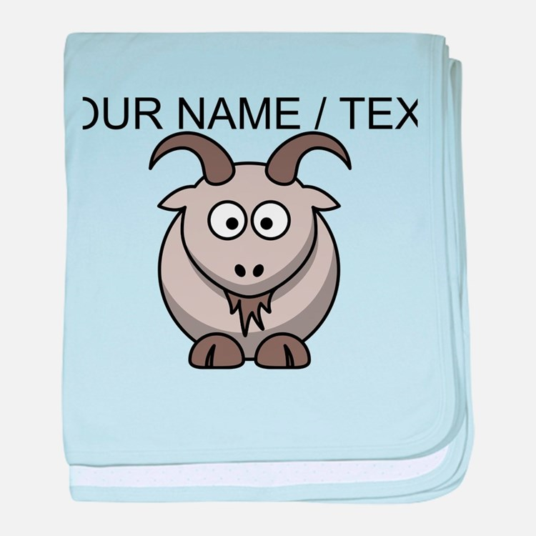 Custom Cartoon Goat baby blanket