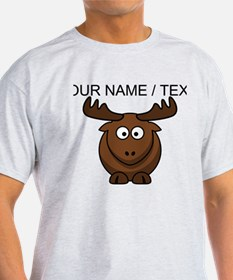 Custom Cartoon Moose T-Shirt