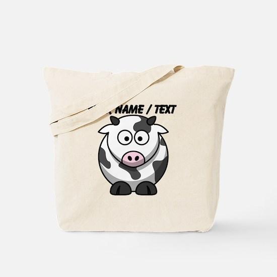 Custom Cartoon Cow Tote Bag