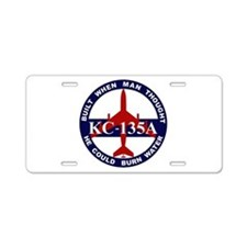KC-135 Stratotanker Aluminum License Plate