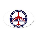 KC-135 Stratotanker Oval Car Magnet