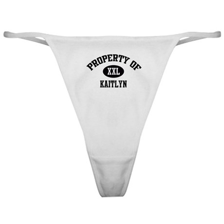 Property of Kaitlyn Classic Thong