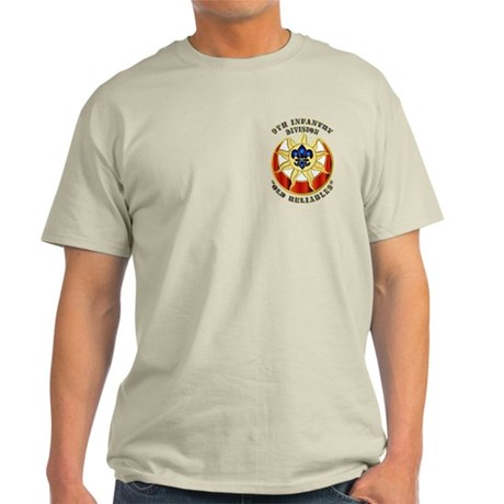 Army - DUI - 9th Infantry Division Light T-Shirt
