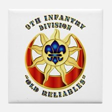 Army - DUI - 9th Infantry Division Tile Coaster