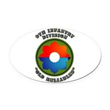 Army - SSI - 9th Infantry Division Oval Car Magnet