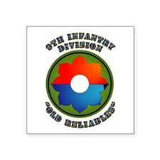 Army - SSI - 9th Infantry Division Square Sticker