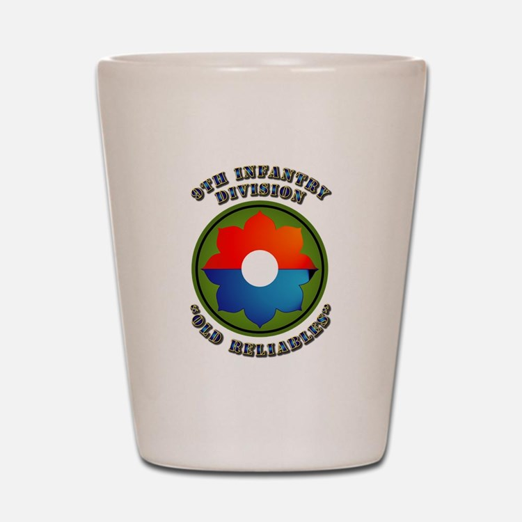 Army - SSI - 9th Infantry Division Shot Glass