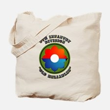 Army - SSI - 9th Infantry Division Tote Bag