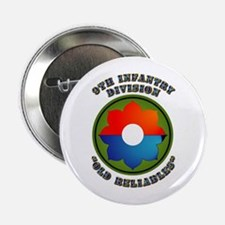 """Army - SSI - 9th Infantry Division 2.25"""" Button"""