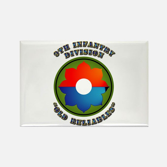 Army - SSI - 9th Infantry Division Rectangle Magne
