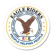 Eagle Riders Round Car Magnet