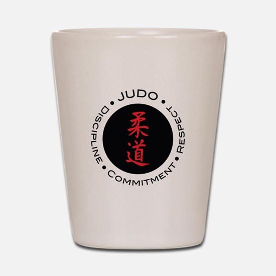 Judo Logo circle Shot Glass