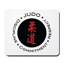 Judo Logo circle Mousepad