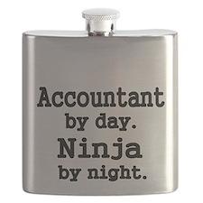 Accountant day. Ninja by Night Flask