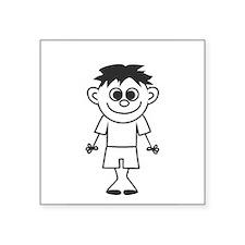 """Son - stick figure family Square Sticker 3"""" x 3"""""""