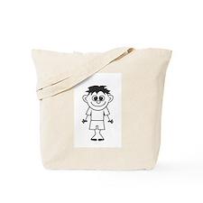 Son - stick figure family Tote Bag