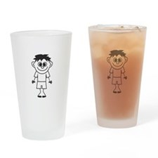 Son - stick figure family Drinking Glass
