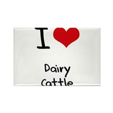 I Love Dairy Cattle Rectangle Magnet