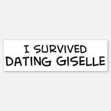 Survived Dating Giselle Bumper Bumper Bumper Sticker