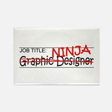 Job Ninja Graphic Designer Rectangle Magnet