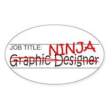 Job Ninja Graphic Designer Bumper Stickers