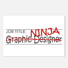 Job Ninja Graphic Designer Postcards (Package of 8