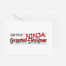 Job Ninja Graphic Designer Greeting Card