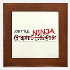 Job Ninja Graphic Designer Framed Tile