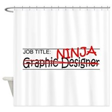 Job Ninja Graphic Designer Shower Curtain