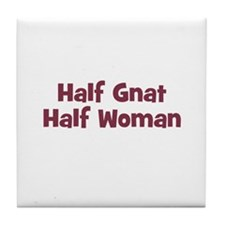 Half GNAT Half Woman Tile Coaster