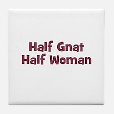 Half GNAT Half Woman Tile Coaster